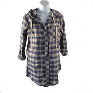 Buckle Gilded Intent Hooded Flannel Shirt Sz XS